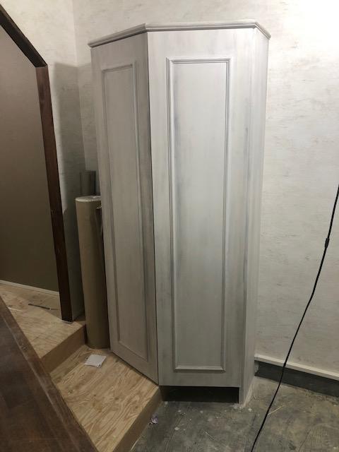 盛岡市美容室什器エイジング塗装